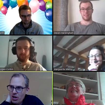 Image showing Amadeus team remote working